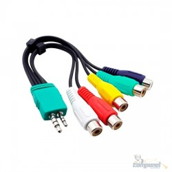 Adaptador Cabo Av Componente Tv Samsung Led Lcd P1 P2 5 Rca 20cm